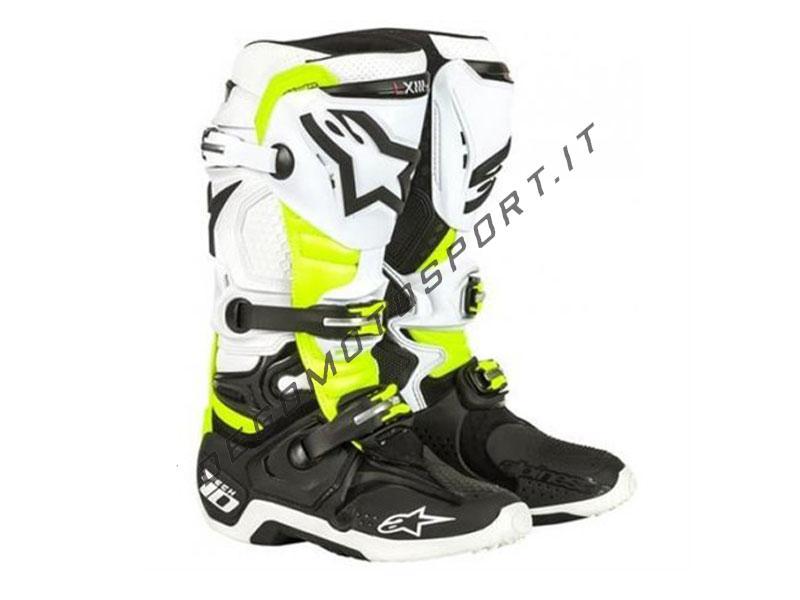 in vendita online Vendita di liquidazione alta moda Stivali Motocross Alpinestars Tech 10 White Yellow Black