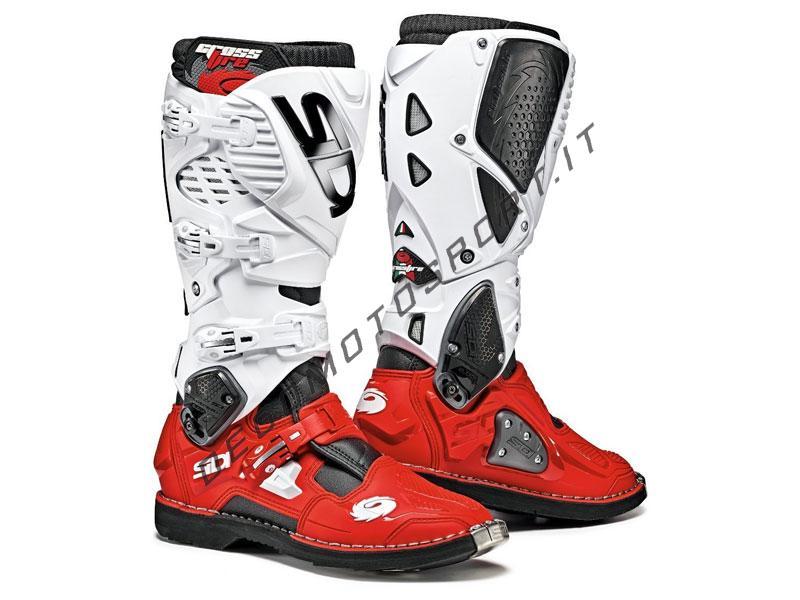 Stivali Motocross Sidi Crossfire 3 Nero Rosso Bianco