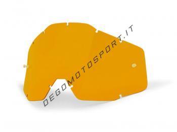 Lente trasparente gialla per maschera 100%