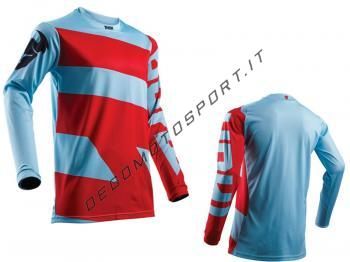 Maglia motocross Thor 2018 Pulse Powder Blue Red