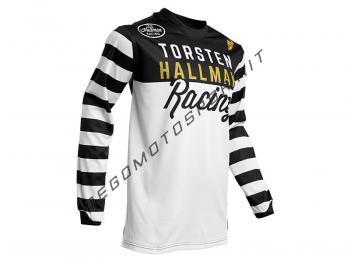 Maglia Motocross Thor 2020 Hallman Ringer Black-White
