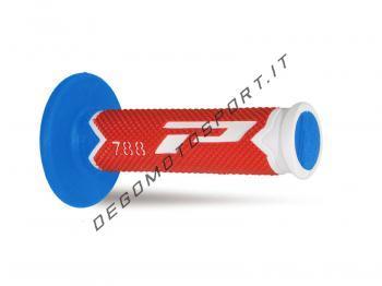 Manopole ProGrip Cross Extra Slim 788 White Red Blue