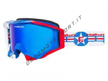 Maschera motocross Maikun Blue Star