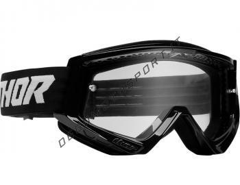 Maschera motocross Thor Combat Nero