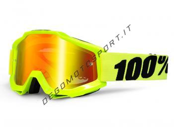 Occhiali Motocross 100% Accuri Fluo Yellow