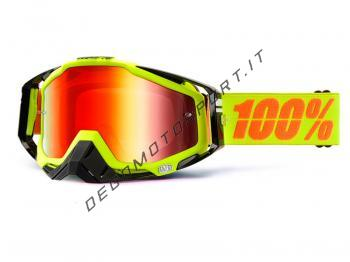 Occhiali Motocross 100% Racecraft Attack Fluo