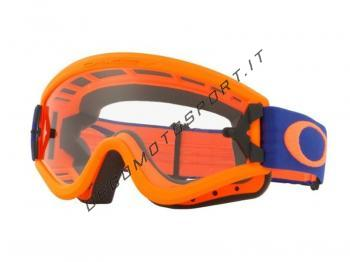 Occhiali Motocross Oakley O-Frame Blue Orange