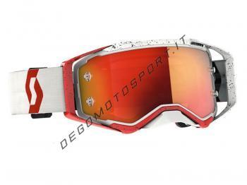 Occhiali Motocross Scott Prospect White-Red Orange Chrome Lens