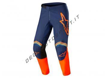 Pantaloni Alpinestars 2022 Fluid Speed Dark Blue - Orange