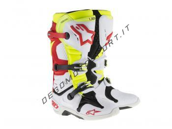 Stivali Motocross Alpinestars Tech 10 White Red Yellow