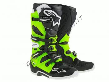 Stivali Motocross Alpinestars Tech 7 Black Green