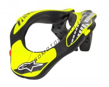 Youth Neck Support Alpinestars Black Yellow Fluo